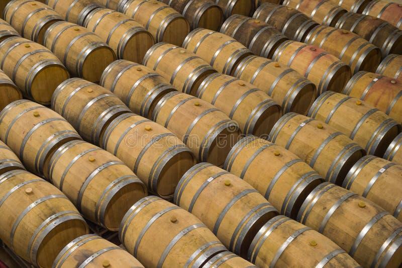 Vaten in Wijn kelder-Bordeaux Wineyard stock fotografie