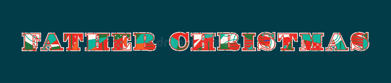 Vater Christmas Concept Word Art Illustration stock abbildung