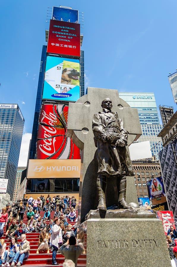 Vater Duffy Monument, Zeiten lizenzfreies stockfoto