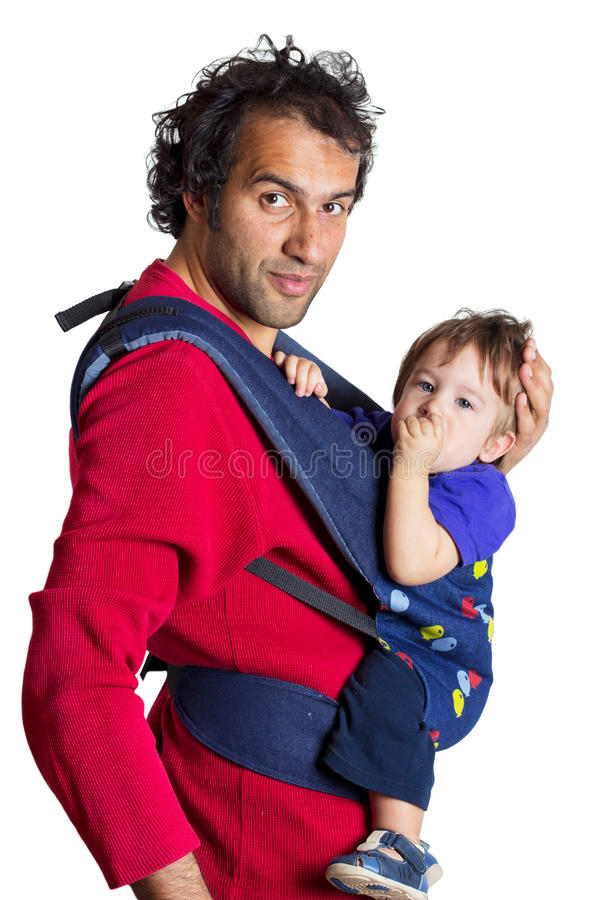 Vater mit Sohn stockfoto