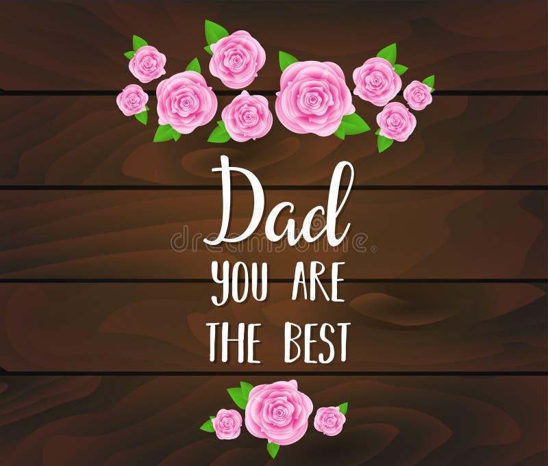 Vater ` s Tagesfeiertag stock abbildung