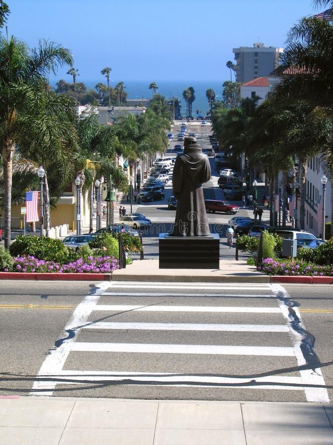 Vater Serra in Ventura stockbilder
