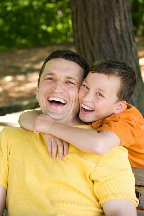 Vater Und Sohn Stockfoto