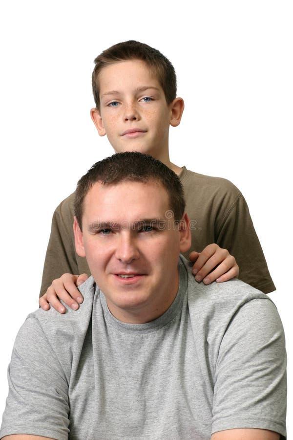 Download Vater und Sohn stockfoto. Bild von zwei, jungen, hemden - 41826