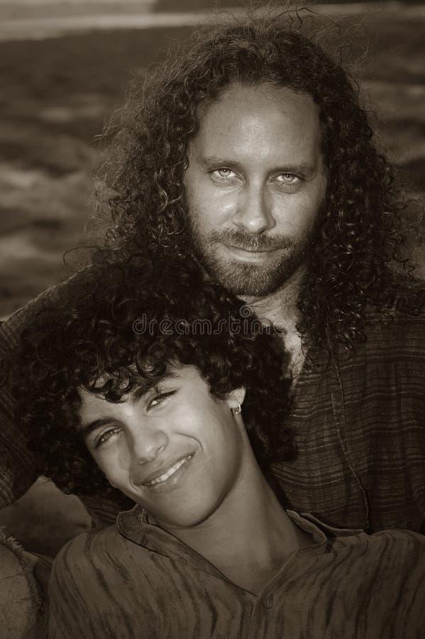 Vater und Sohn stockfotos