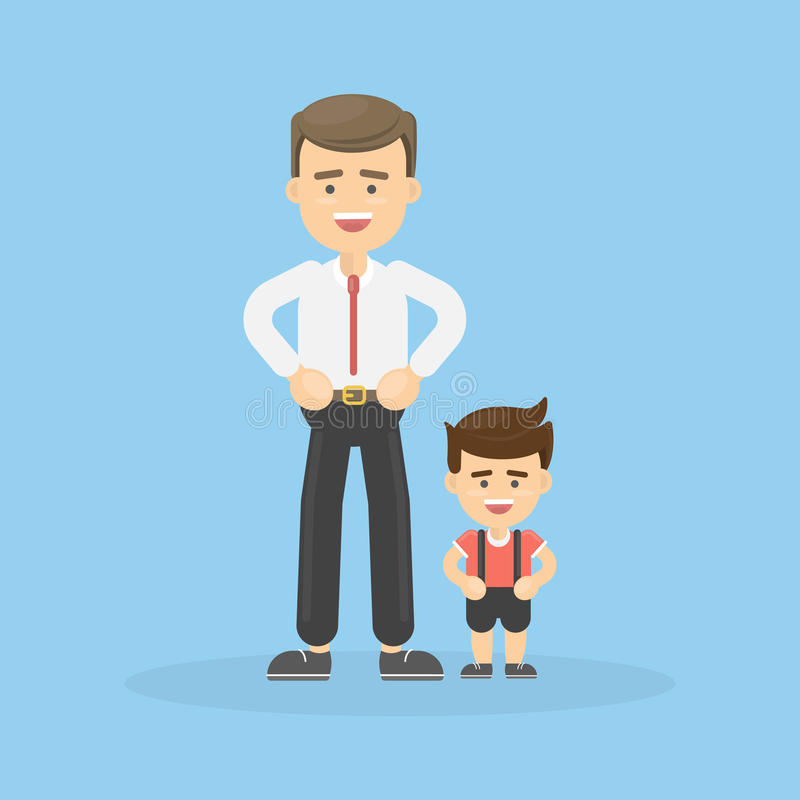 Vater und Sohn stock abbildung