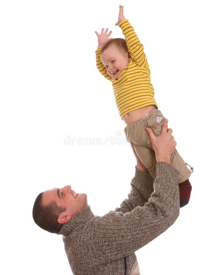 Vater und Sohn. Glückliche Familie. stockfoto