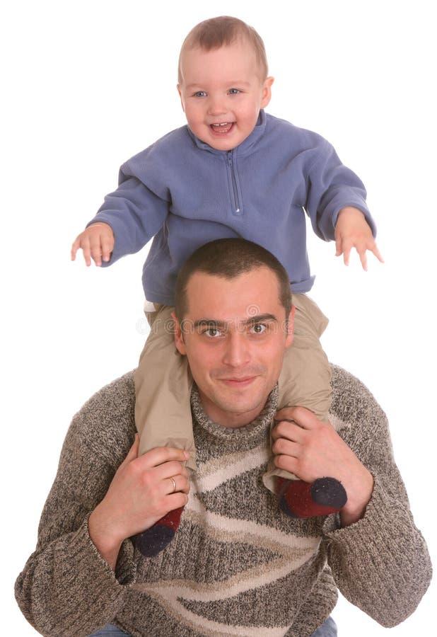 Vater und Sohn. Glückliche Familie. stockfotos