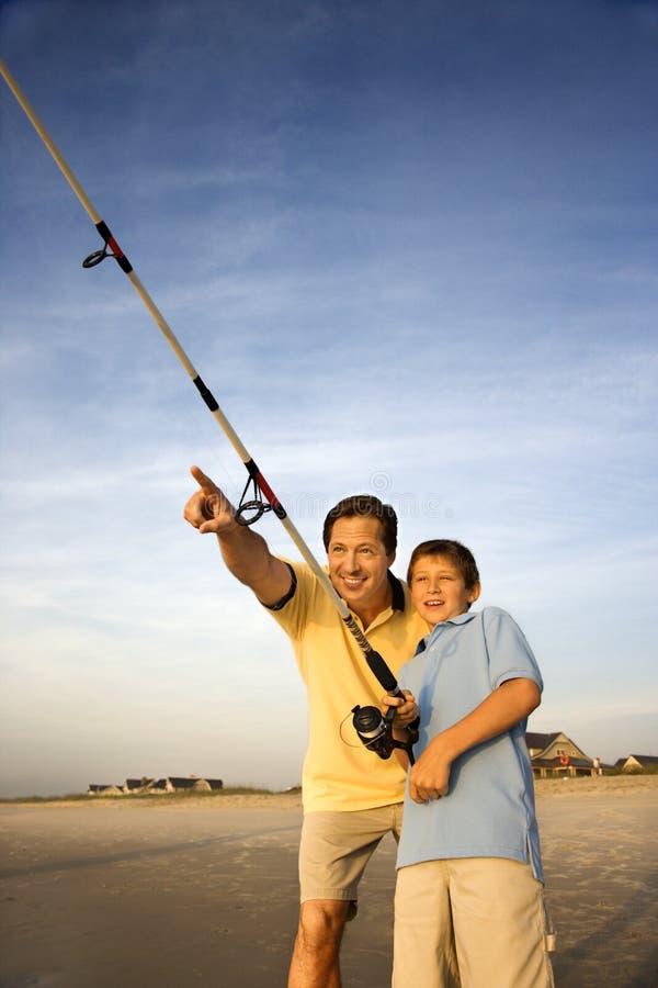 Vater- und Sohnfischen