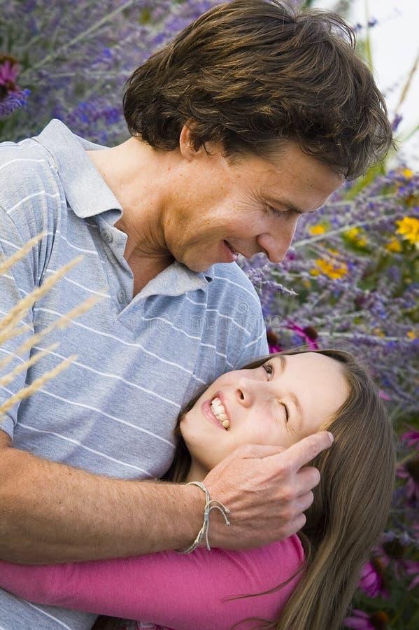Vater und Tochter stockfotografie