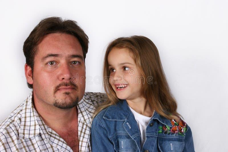 Vater und Tochter stockbild