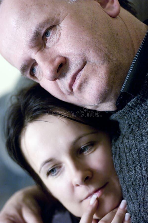 Vater- und Tochterportrait stockfoto