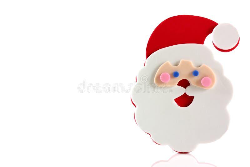 Vater-Weihnachtskarikaturgesicht lizenzfreies stockbild
