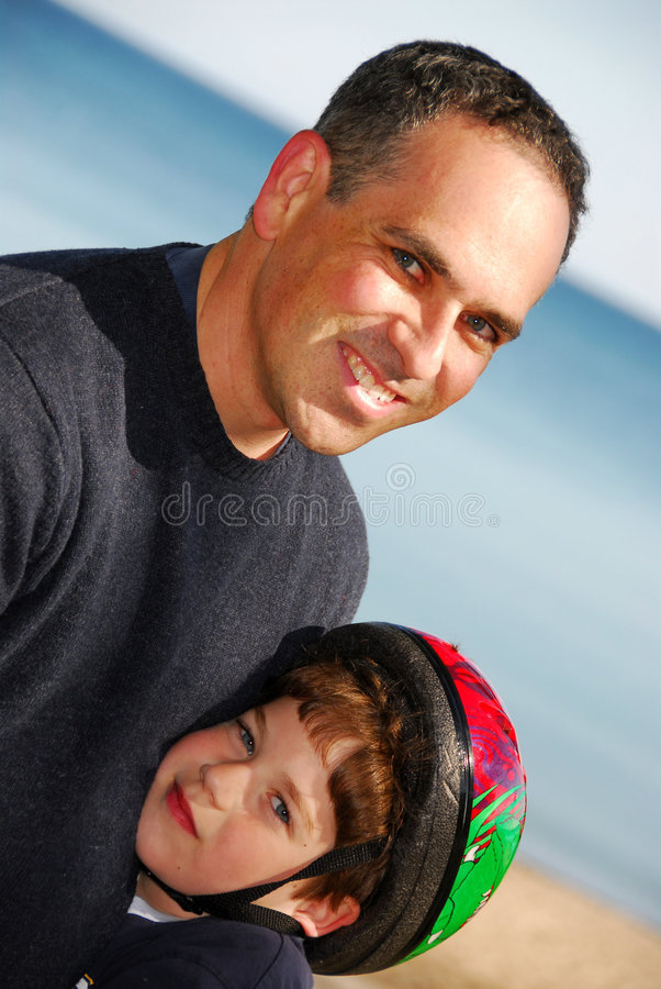 Vatersohnportrait lizenzfreies stockbild