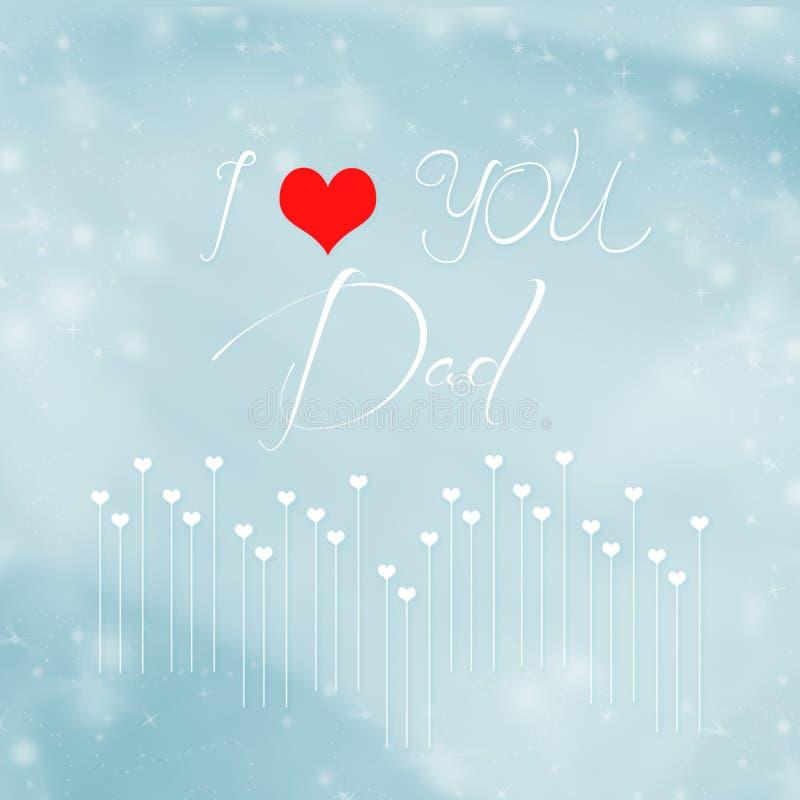 Vatertag Zusammenfassungs-Hintergrund Herz-Feiertagsillustration stock abbildung