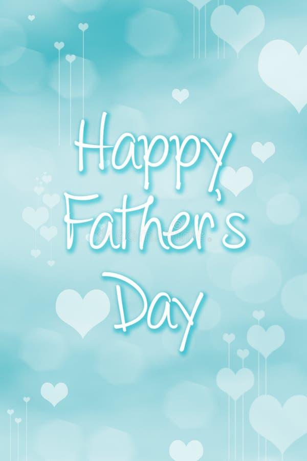 Vatertag Zusammenfassungs-Hintergrund Herz-Feiertagsillustration vektor abbildung
