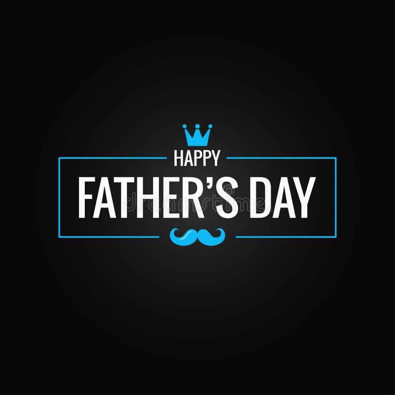 Vatertagsfahne auf schwarzem Hintergrund