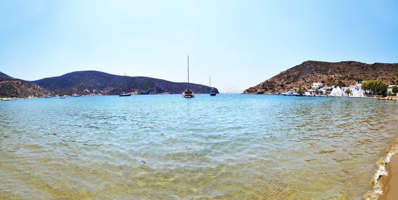 Vathi beach Sifnos Greece royalty free stock photo