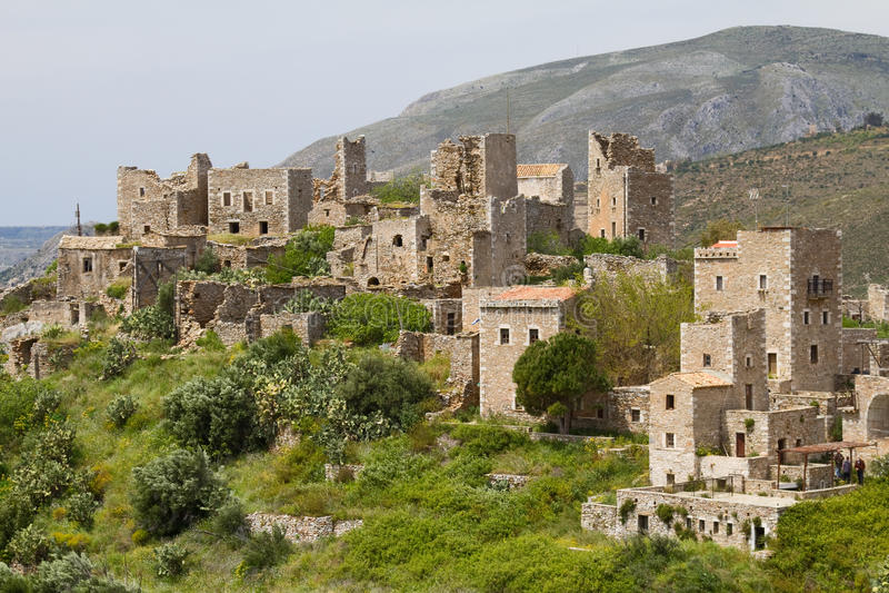 vathia mani Греции стоковая фотография