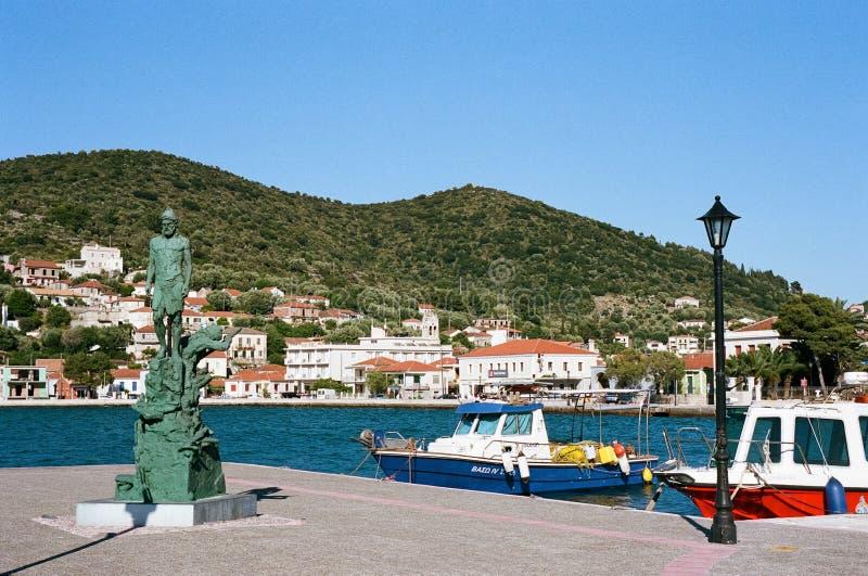 Vathy в Ithaca, Греции стоковые фото