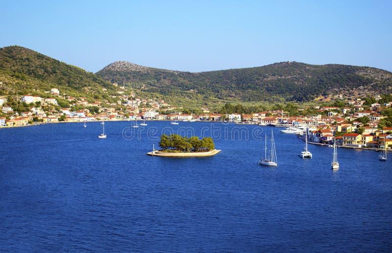 Vathy in Ithaca island. Greece stock photo