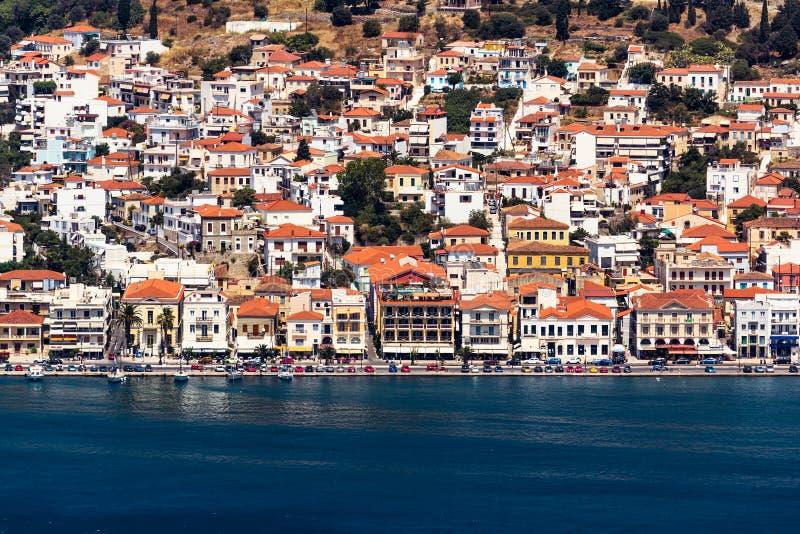 Vathy port Samos royalty free stock photos