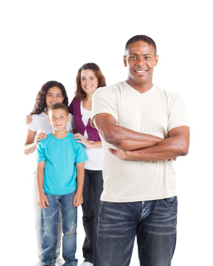 Vati und Familie lizenzfreies stockfoto