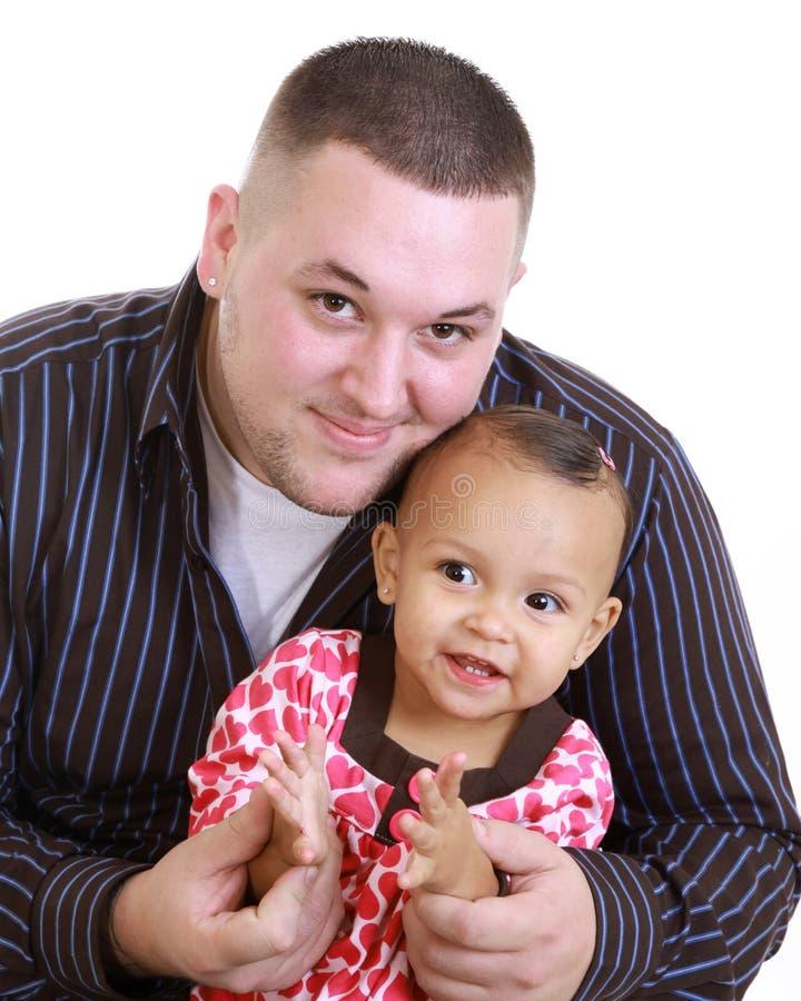 Vati und Tochter stockfoto