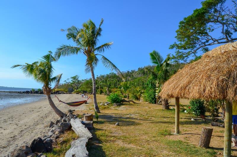 Vatiastrand, het Eiland van Viti Levu, Fiji stock afbeelding