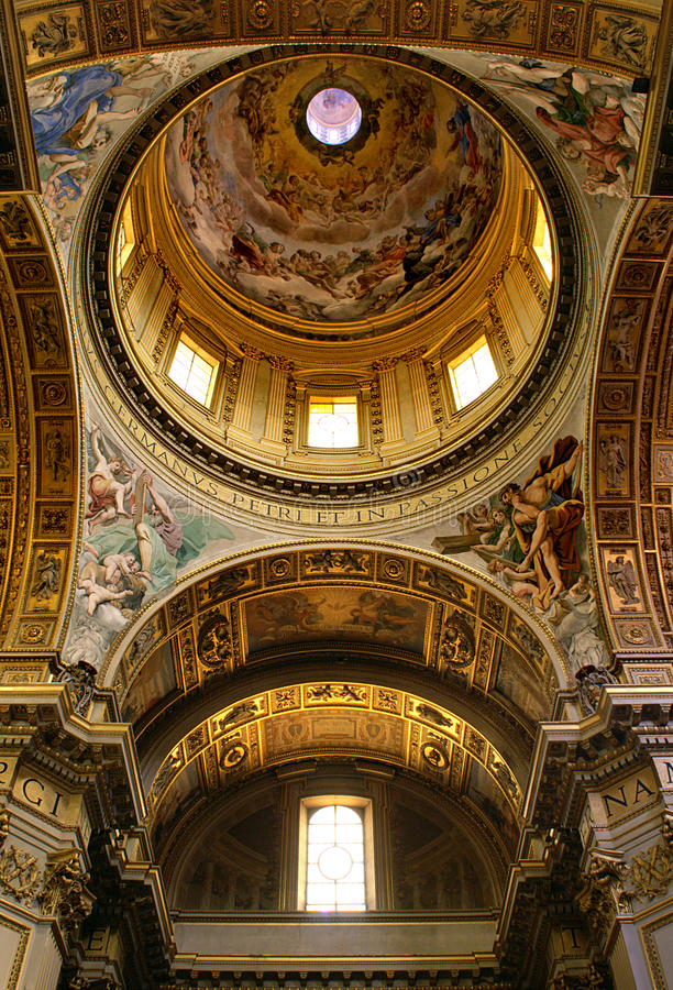 Vatican. A interior view of Vatican royalty free stock images