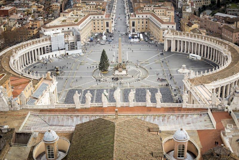 Vatican au temps de Noël photographie stock libre de droits