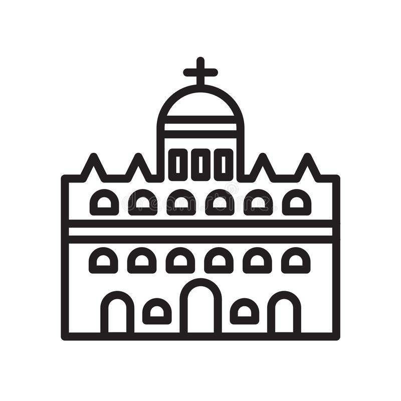 Vatican city icon vector sign and symbol isolated on white background, Vatican city logo concept. Vatican city icon vector isolated on white background for your royalty free illustration