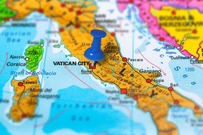 Vatican City Italien översikt arkivfoton