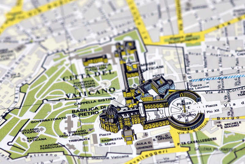 3D Map Of Vatican City State Stock Illustration