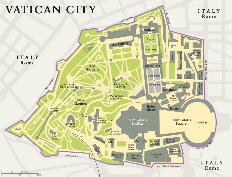 Vatican City Political Map vector illustration