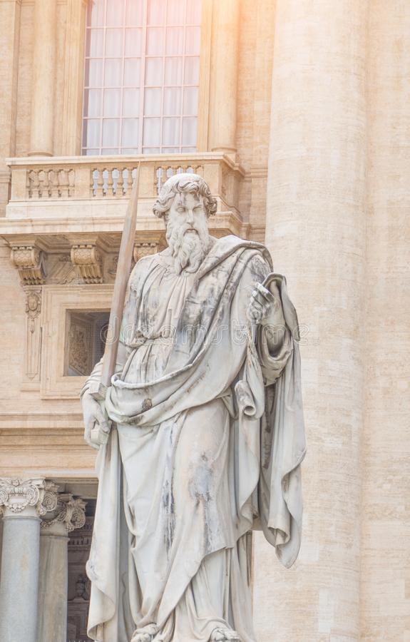 Vatican City, Rome, Italy - February 23, 2019: Statue of the apostle Saint Peter stock image