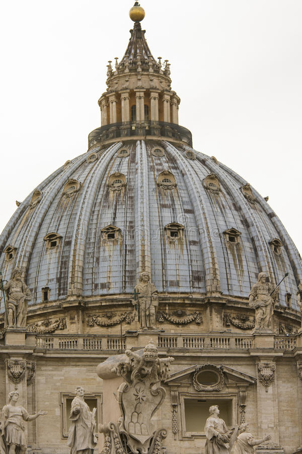St. Peters Basilica In Rome, Italy. Papal Seat. Vatican