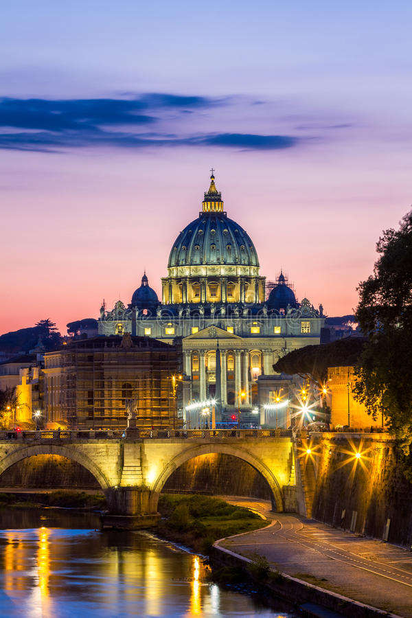 Vatican City. St Peter's Basilica. Panoramic View Of Rome