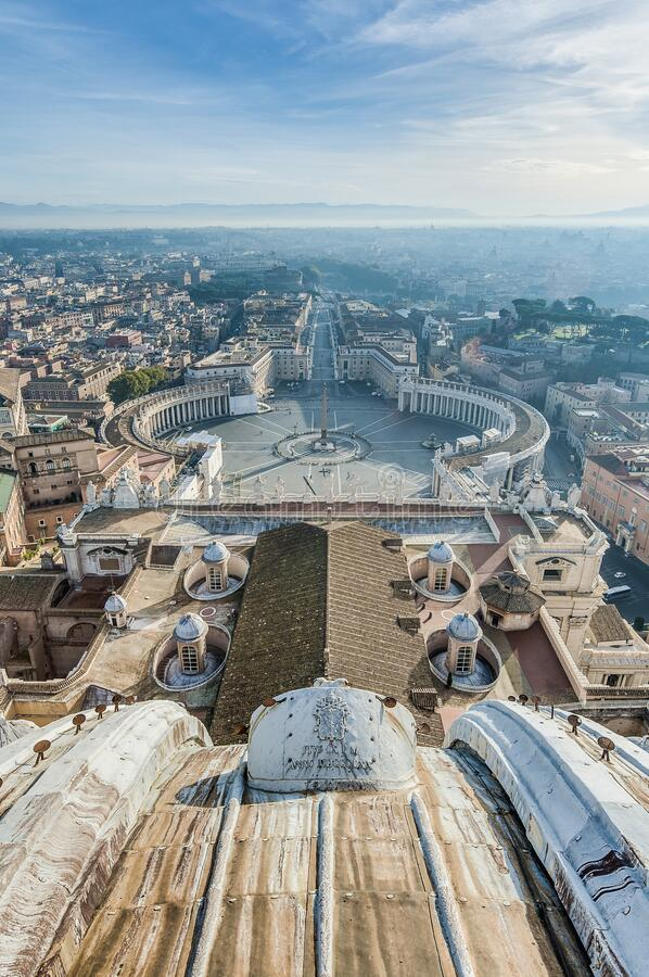 Vatican City in Rome, Italy. Vatican City State (Stato della Città del Vaticano) in Rome, Italy stock photos