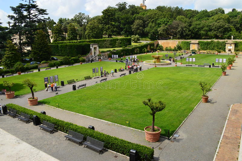 The Vatican Gardens rome stock photos