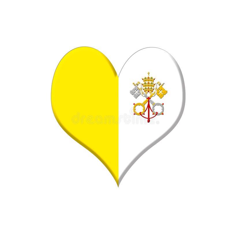Vatican Heart. Royalty Free Stock Photo