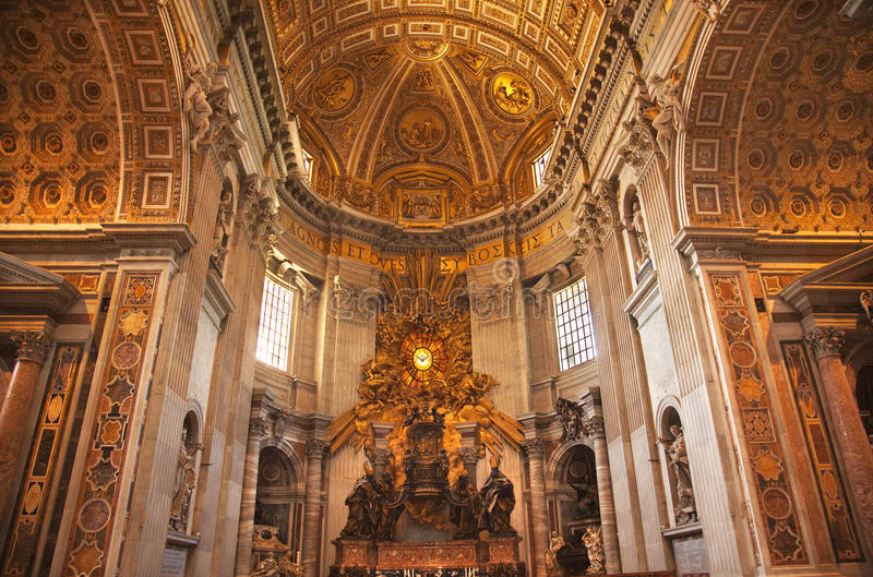 Download Vatican Inside Holy Spirit Altar Rome Stock Photo - Image of monument, holy: 10010604