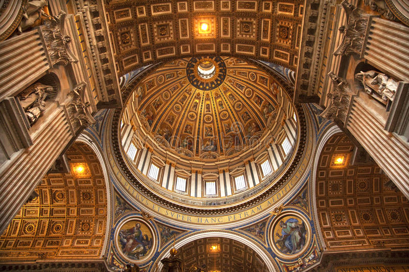 Download Vatican Inside Michelangelo's Dome Rome Stock Photo - Image: 10010652