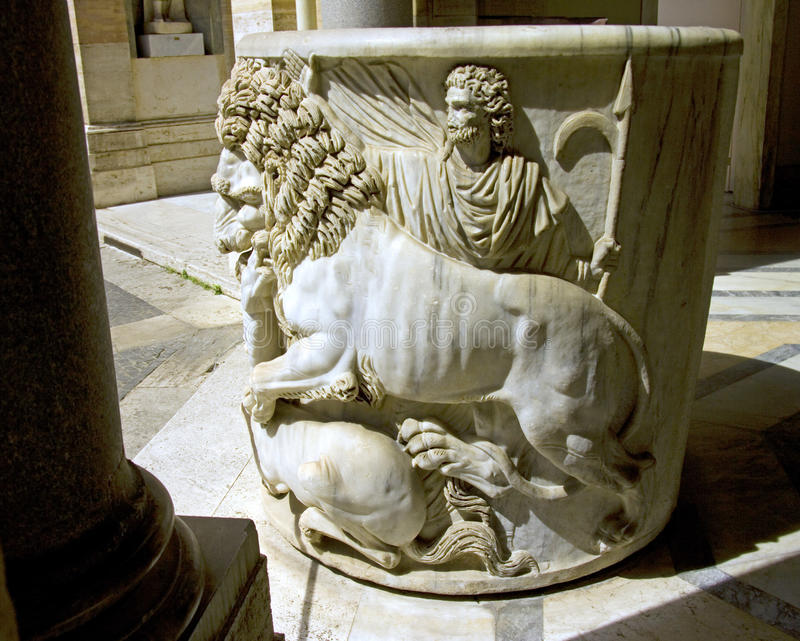 Vatican italy rome sculpture museum. Archaeology pope marble leo colonna royalty free stock image