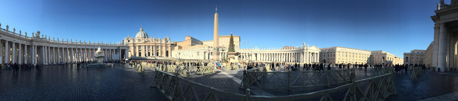 The Vatican just before Christmas royalty free stock photos