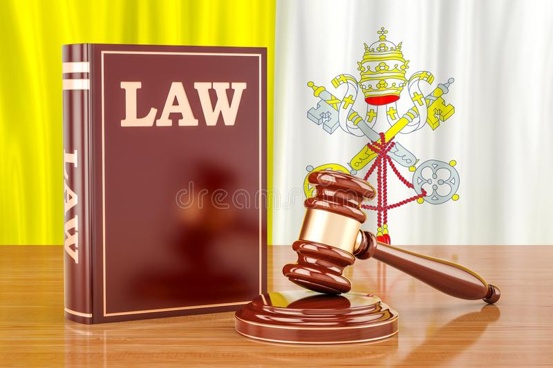 Vatican law and justice concept, 3D rendering vector illustration
