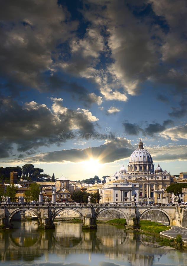 Vatican morgens lizenzfreies stockbild