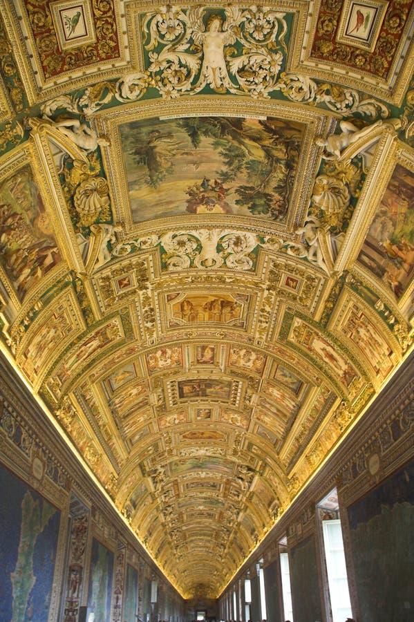 Vatican-Museen - Flure stockfoto