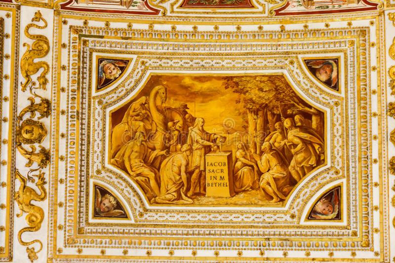 Vatican Museum. 22 April, 2015 Tourists stroll at Vatican Museum in Rome, Italy stock photography