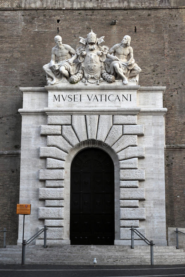 Vatican Museum. The entrance at the Vatican Museum, Rome, Italy stock photos